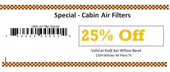 Castle Hills Spl Cabin Air Filter