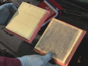 air filter clean vs dirty